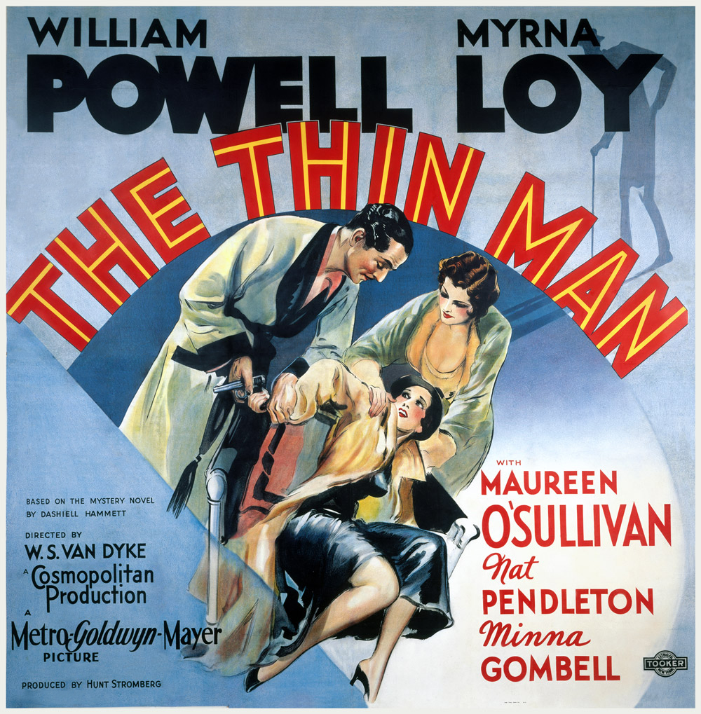 the thin man us 6 sheet movie poster
