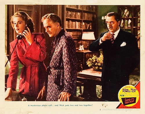 song of the thin man lobby card #2