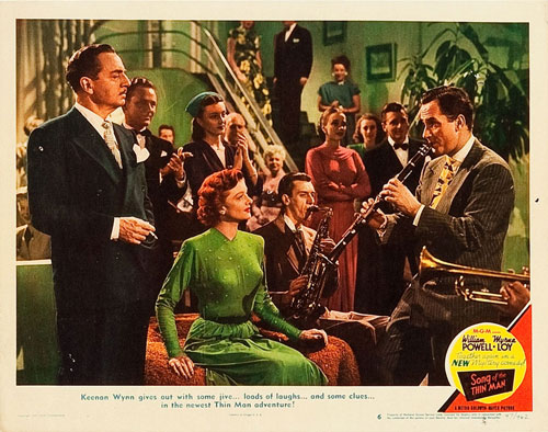 song of the thin man lobby card #6