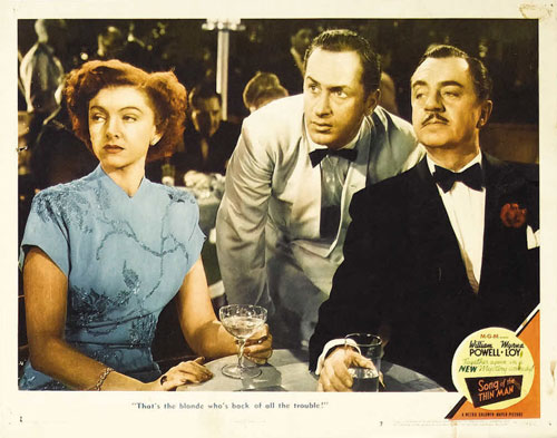 song of the thin man lobby card #7