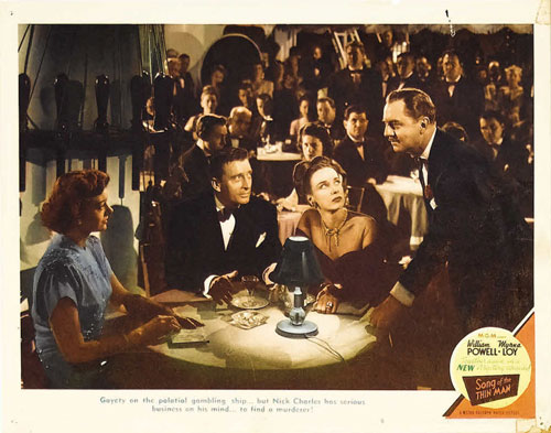 song of the thin man lobby card #8