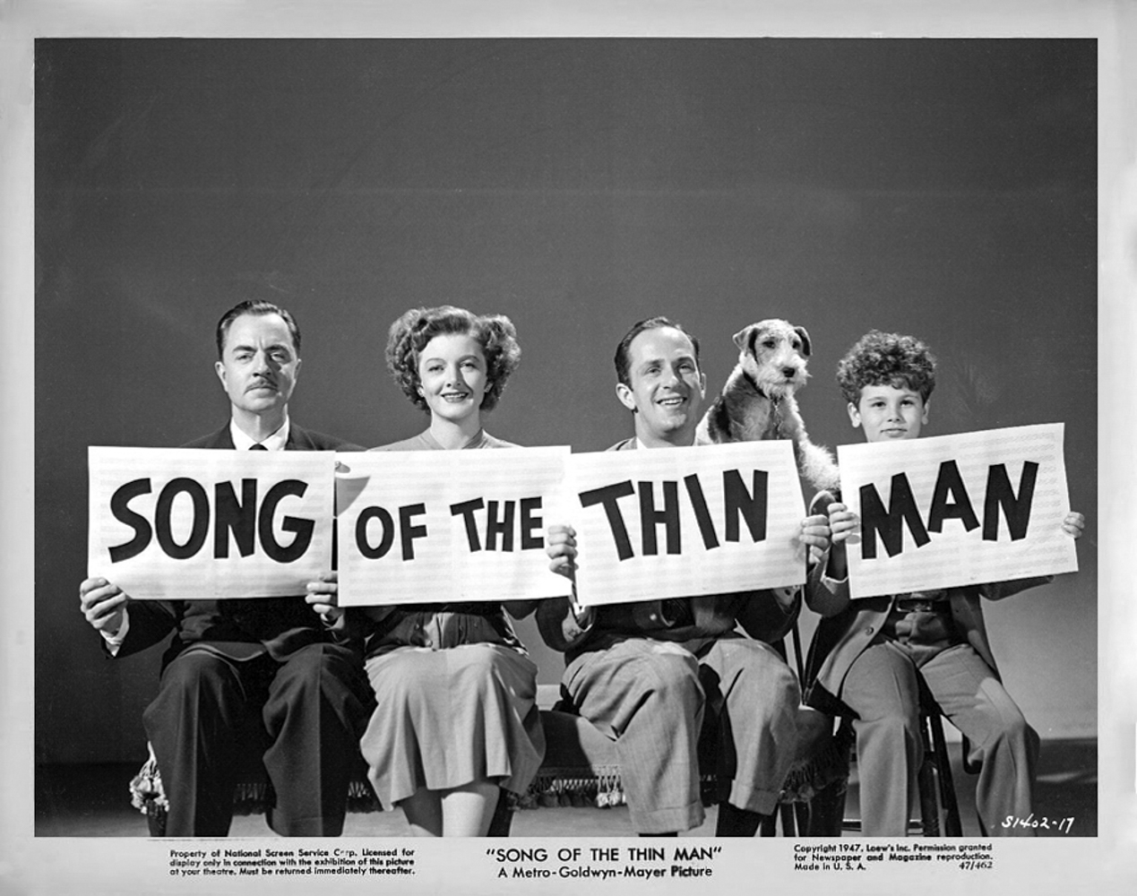 song of the thin man 1947 publicity still photo s1402-17