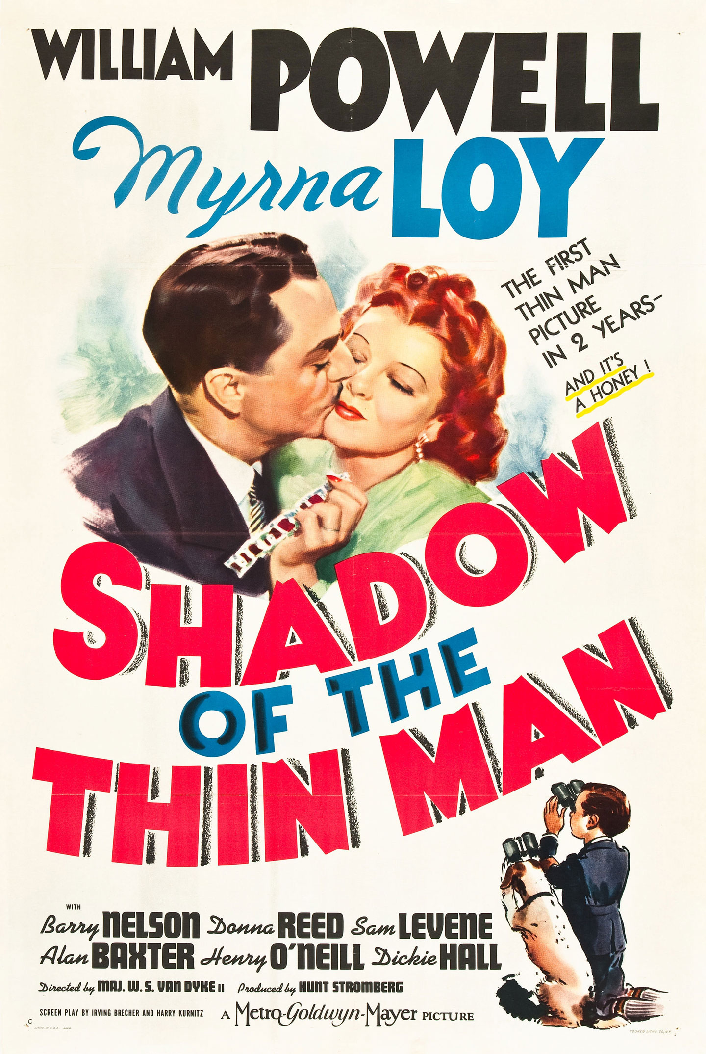shadow of the thin man 1 sheet style c movie poster