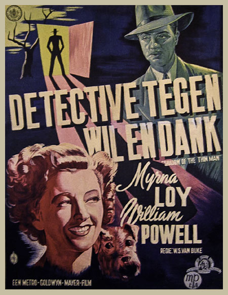 shadow of the thin man dutch movie poster