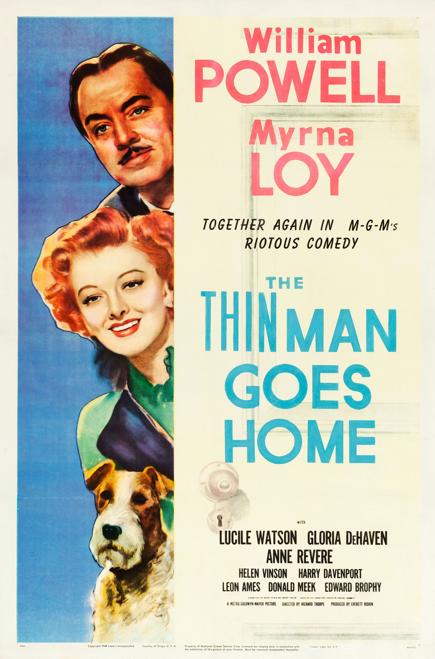 the thin man goes home us 1 sheet movie poster