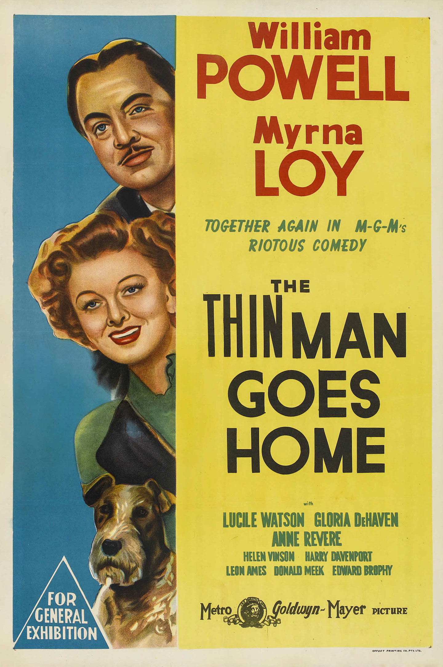 the thin man goes home australian 1 sheet movie poster
