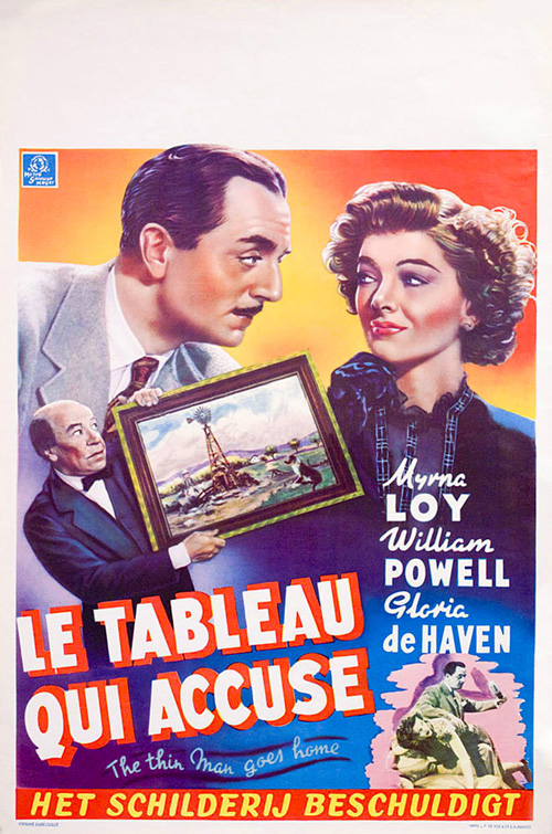 the thin man goes home belgium movie poster