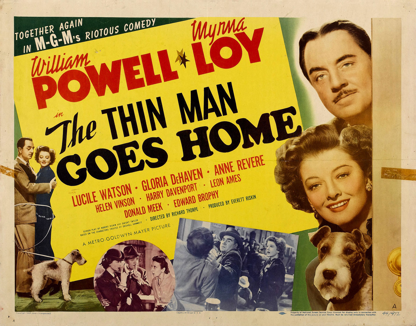 the thin man goes home half sheet movie poster