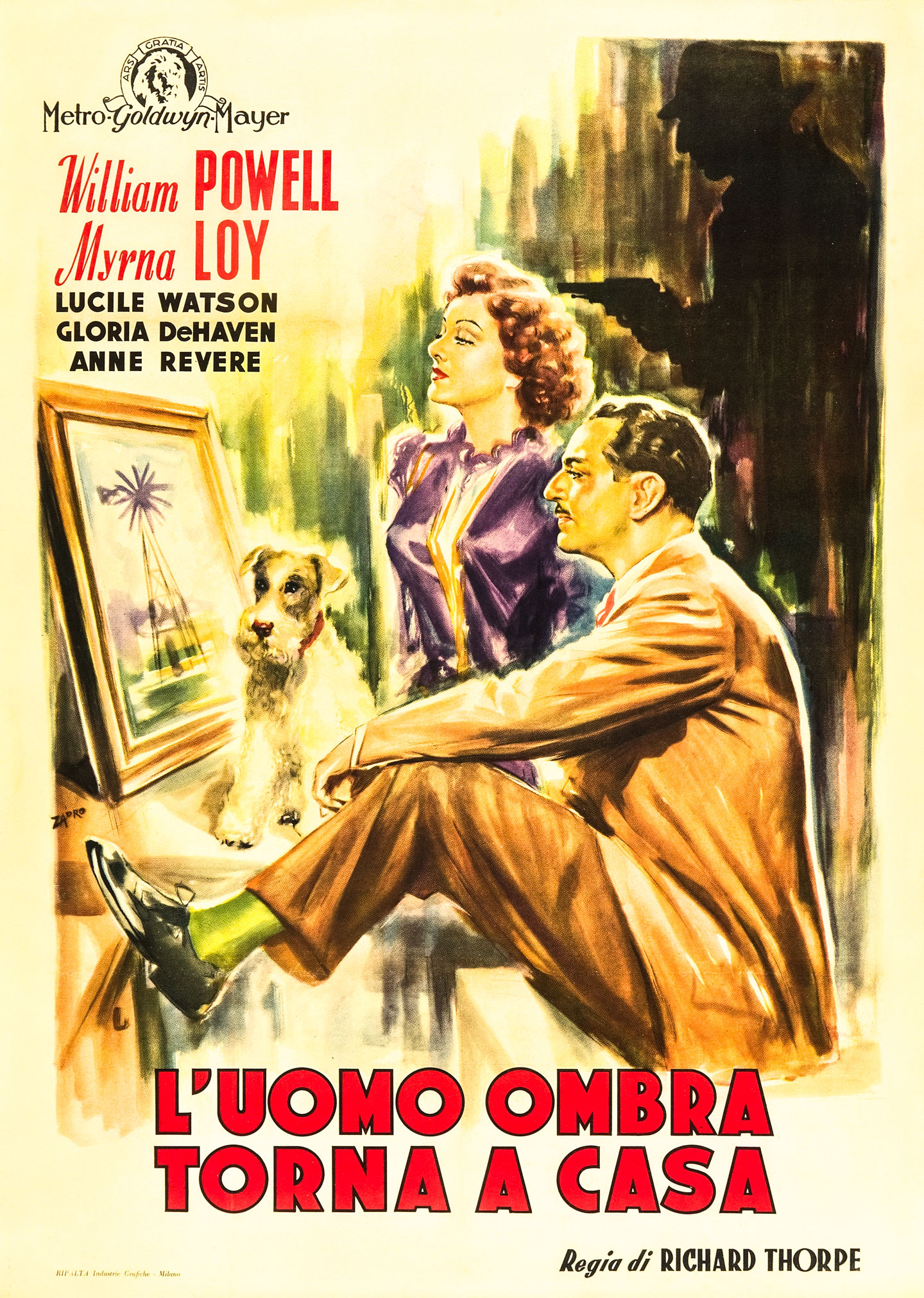 the thin man goes home italian 2 foglio movie poster
